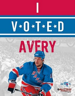 I voted Sean Avery for the NHL 2011 All-Star Game poster