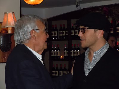 Sean Avery (right) crashes Mike Savino's 80th birthday party to wish him well.