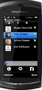 Sony Ericsson Vivaz Pro Skype