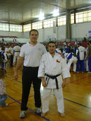 Guillermo Celentano 5º Dan JKA, junto a Sensei Juan Acevedo G.