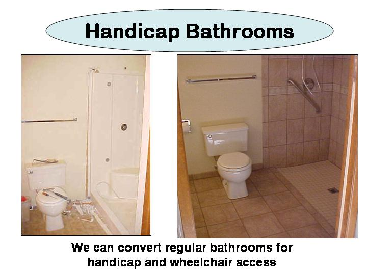 Handicap Bathroom Installations