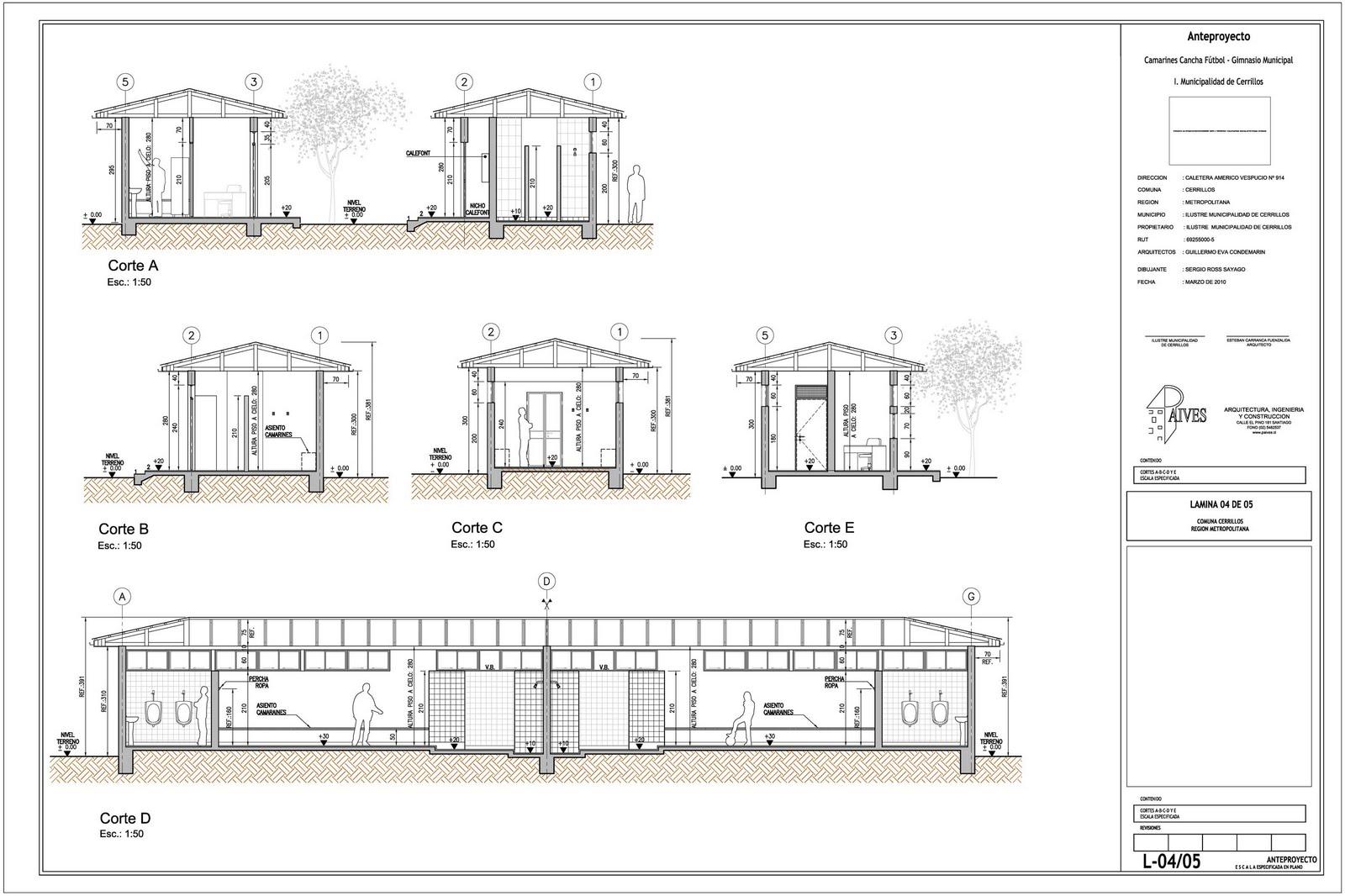 Dibujo de arquitectura for Cortes arquitectonicos