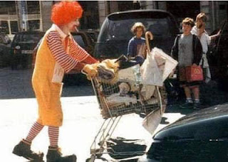 Banned images of Ronald McDonald