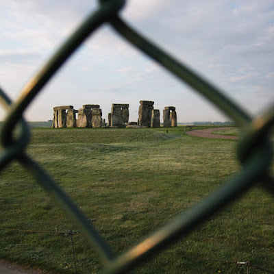 The fence around Stonehenge. Photograph by Tim Irving