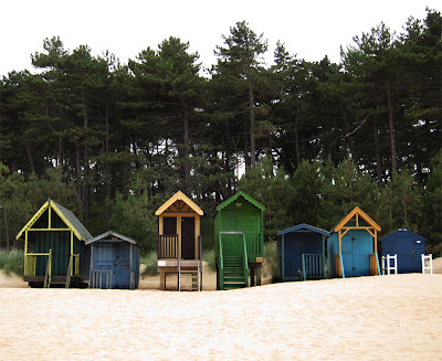 beach huts. Photograph by Tim Irving