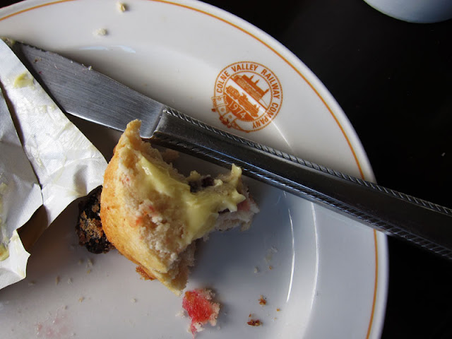 Buttered scone. Photograph by Tim Irving