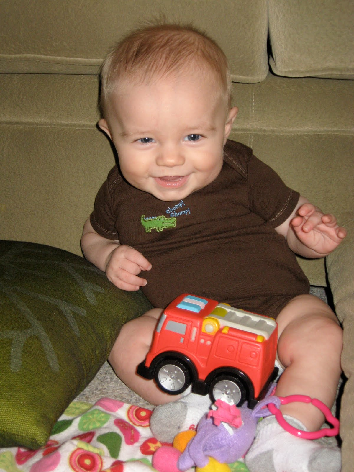 The greeley s happy 5 months baby boy
