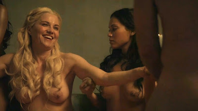 Another Lucy Lawless Nude Scene From Spartacus With Hot ...