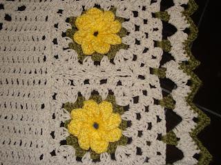 Jogo De Banheiro Em Croche   Flor Catavento
