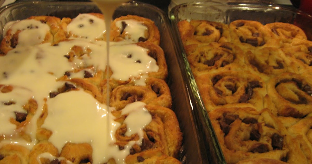 ... is Sweet...Eat the Cake: For JBird - Chocolate Chip Cookie Sweet Rolls