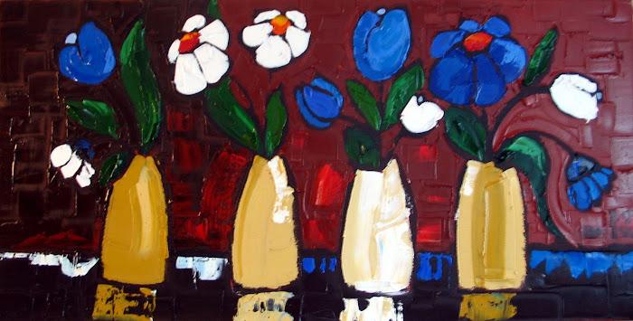 Quatuor de fleurs 15 x 30_Vendu