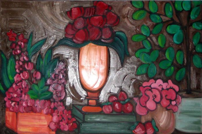 Bouquet Passion 24 x 36 _ Atelier Catherine Boisvert