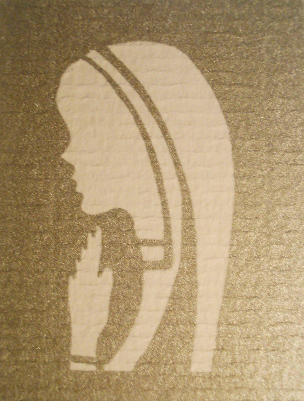ArteyParte: virgen niña plateada