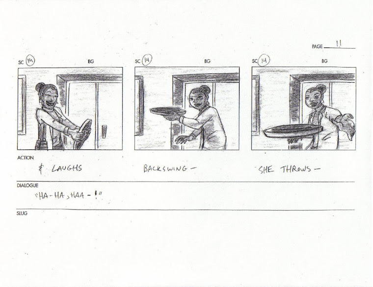 Storyboard page for freelance project