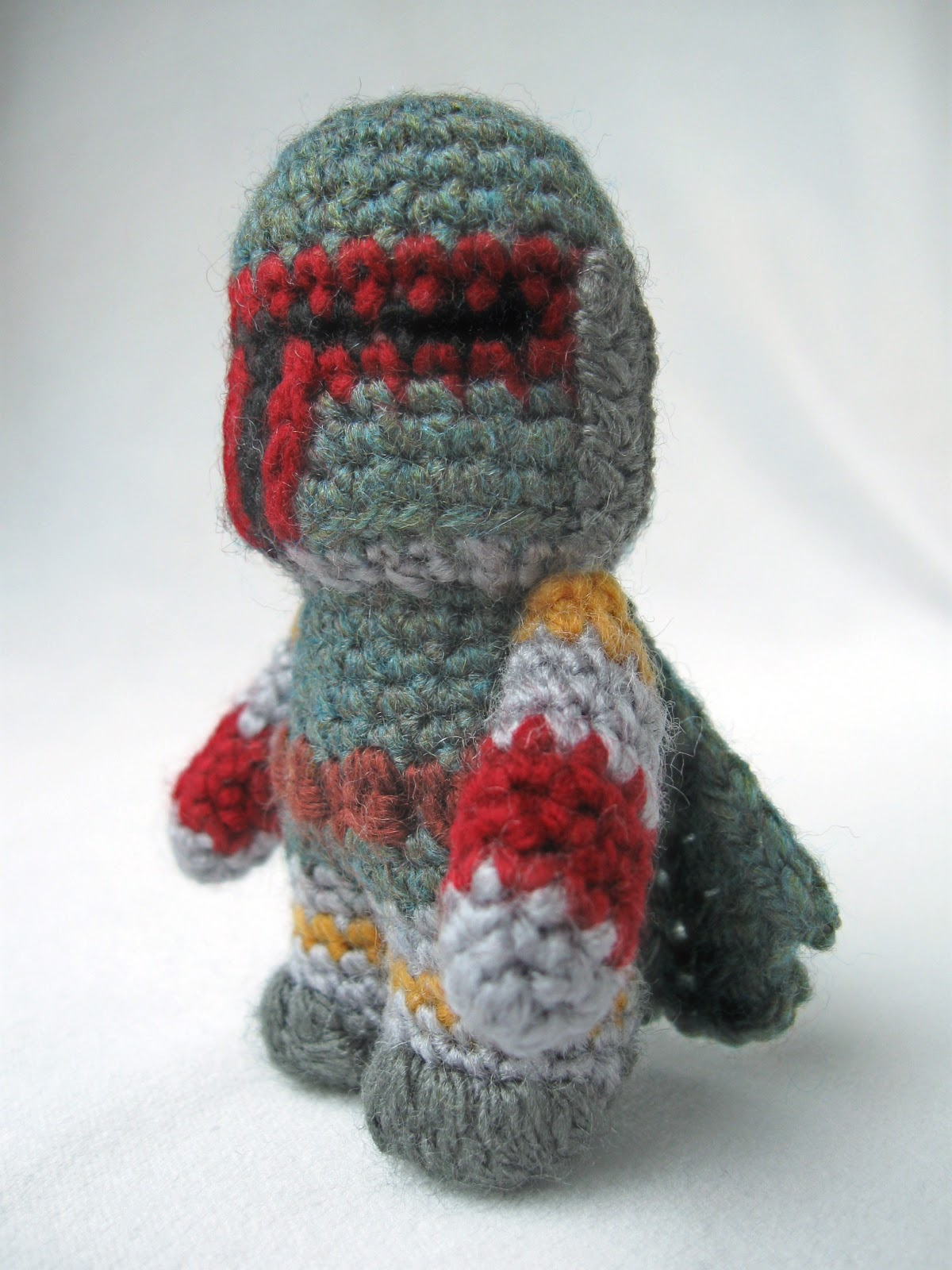 Amigurumi Free Pattern Dinosaur : LucyRavenscar - Crochet Creatures: Boba Fett - Mini Amigurumi