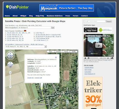 landkartenblog dishpointer hilft ihre satellitensch ssel perfekt ausrichten. Black Bedroom Furniture Sets. Home Design Ideas