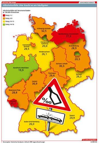 landkartenblog deutschlandkarten zeigen autounf lle in. Black Bedroom Furniture Sets. Home Design Ideas