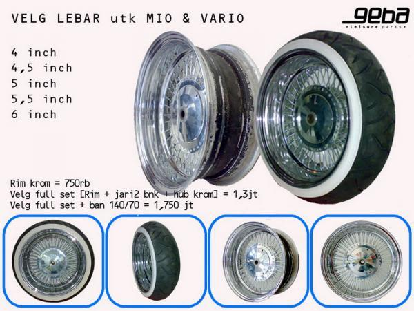 Top mio sporty modifikasi velg lebar