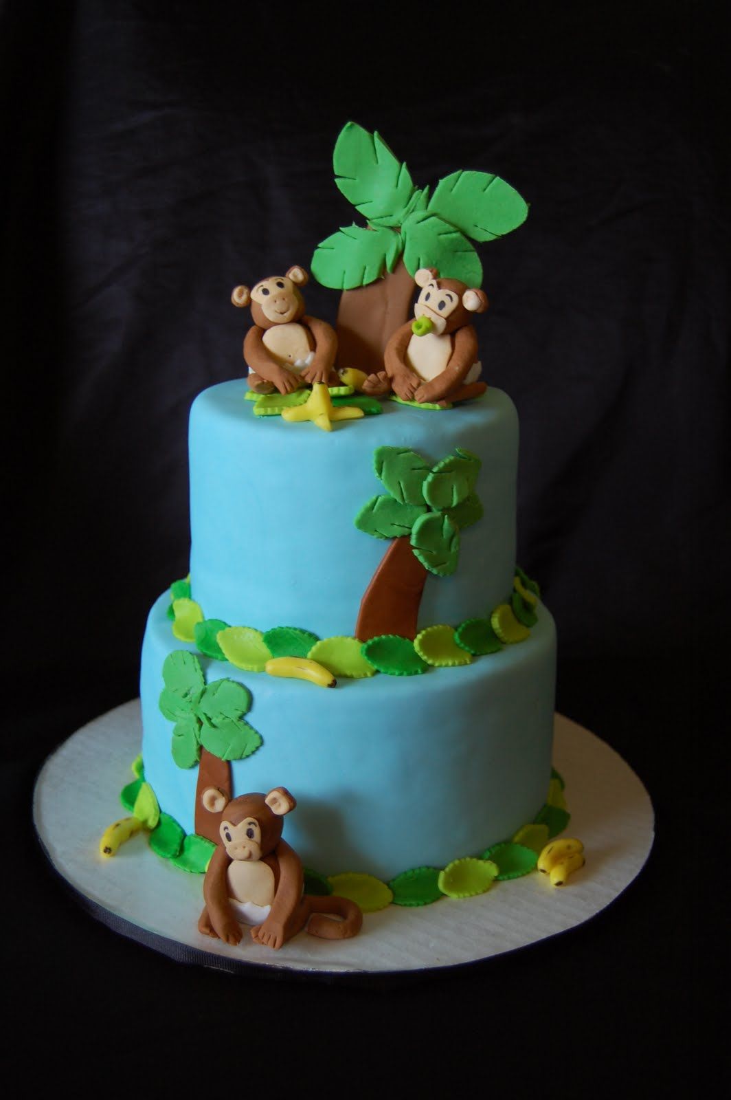 A piece of cake monkeys elephants and horses oh my - Baby shower cakes monkey theme ...