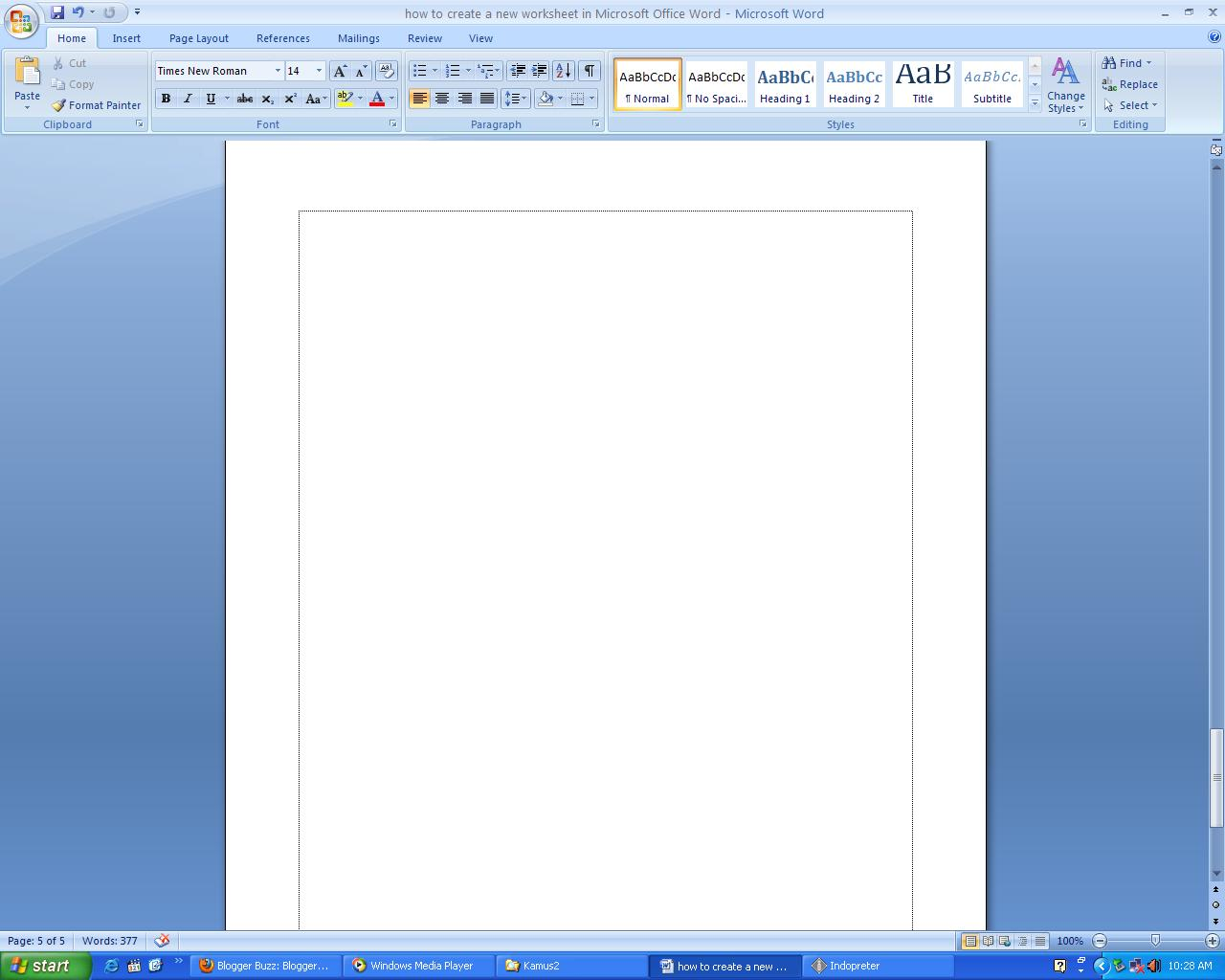 how to appear tab stop microsoft word