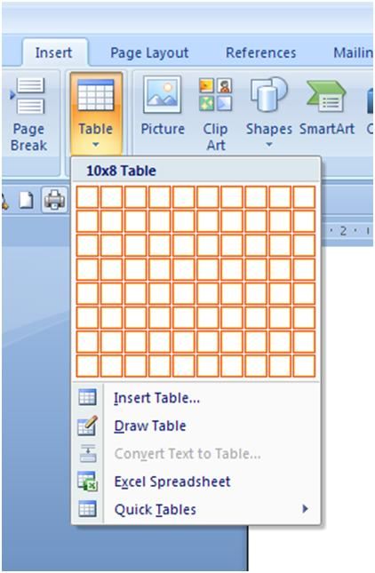 Computer learning and gadget how to create table in for Table design ms word