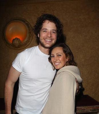 Hamish Blake poses with girlfriend Zoe Foster after  the Frank Stallone concert
