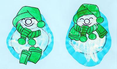 Peinture bonhomme de neige