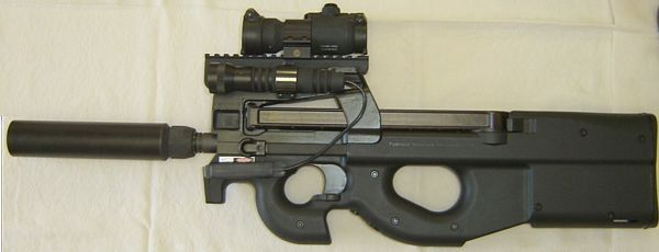 5 7x28 Ammo. FN P90 personal defense weapon