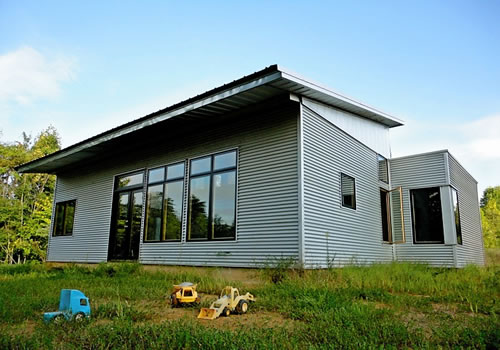 Prefab homes passive solar house kits green modern kits for Green home building kits