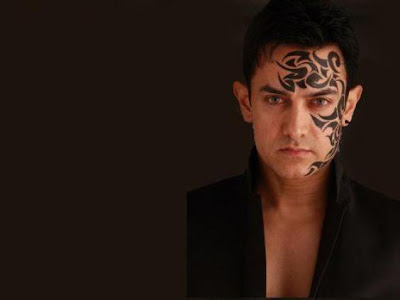 Bollywood Star Aamir Khan Temporary Tattoo Design
