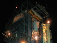 Wise, is seen here being hoisted to the top of its United Launch Alliance Detla II rocket