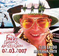 fear and loathing in amsterdam - flyer