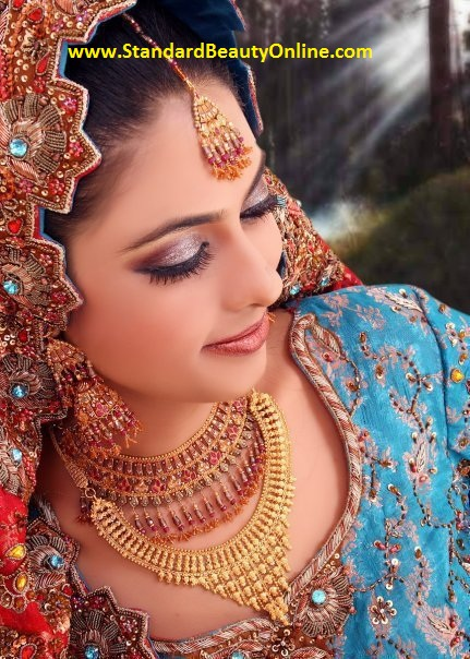 Indian Bridal Dresses 2011 with Indian Gold Jewelery