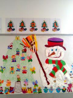 Clase de 1c mural de navidad - Murales decorativos de navidad ...