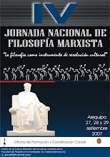 EXITOSA IV JORNADA NACIONAL DE FILOSOFÍA MARXISTA, DESARROLLADO LOS DIAS 27 al 29 de SETIEMBRE