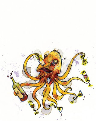Holly Camp's Illustration, Druncktopus