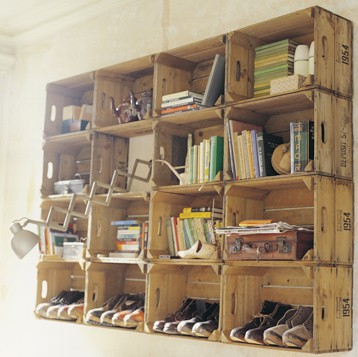 crate wall shelves