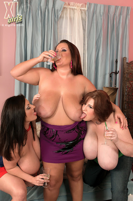 BBW Bachelorette Party w/ Male Strippers