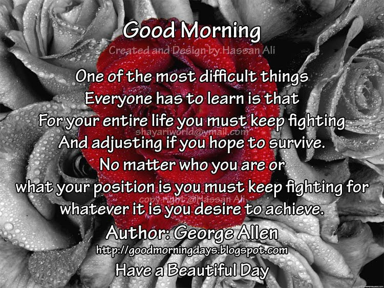 hum our tum good morning sunday have a wonderful weekend