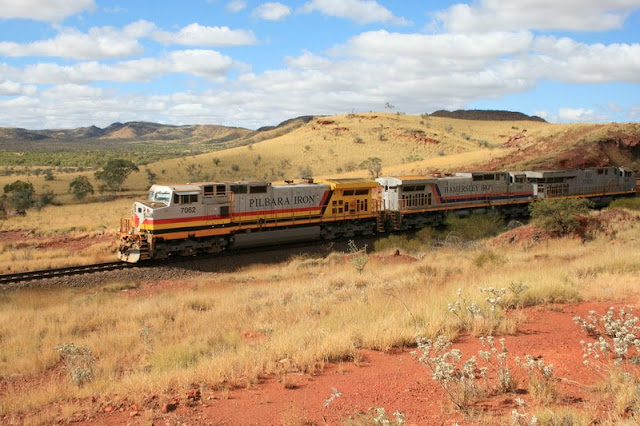 Outback Freight Train, Tom Price, Western Australia - © CKoenig