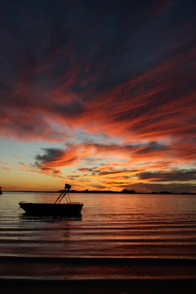 Boat Silhouette, Sunset, Kalbarri, Western, Australia - © CKoenig