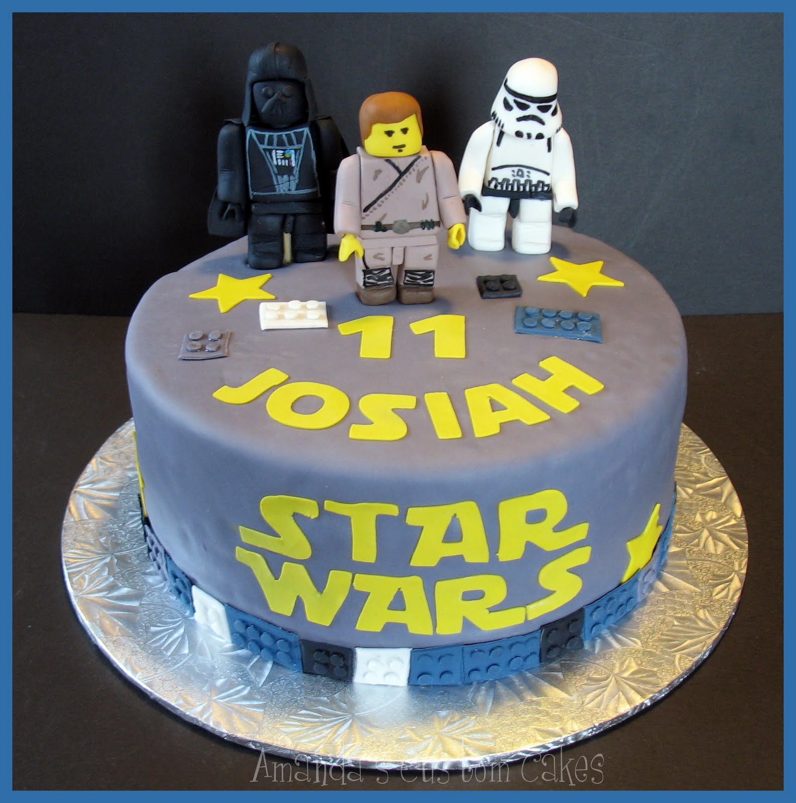 Images Of A Star Wars Cake : Amanda s Custom Cakes: Lego Star Wars Cake