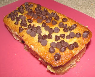 Nutty Choco Chip Vanilla Cake