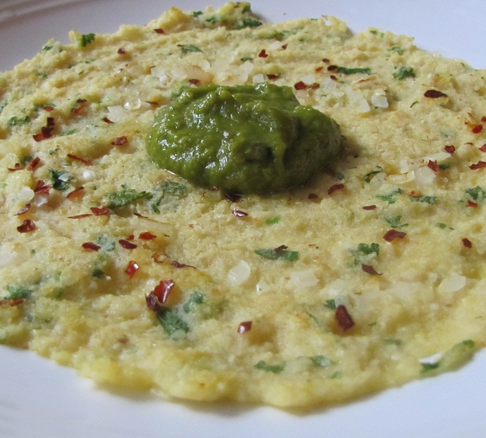 Chickpea Adai With Bell Pepper Chutney