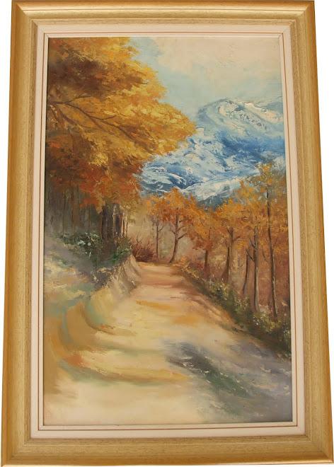 Pintura - Caminho de Outono