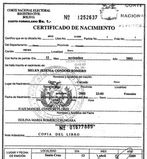 Ministerio Del Interior Partida De Nacimiento - Hogar Y Ideas De ...