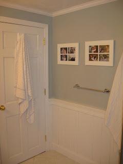 Custom Tiled Bathroom Crown Molding And Wainscoat Merrimac Home