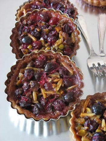 Tartelette: Cranberry Nut Caramel Tarts