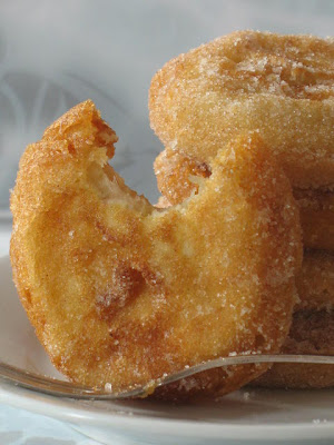 Roasted Apple Beignets With Cinnamon Sugar Recipe — Dishmaps