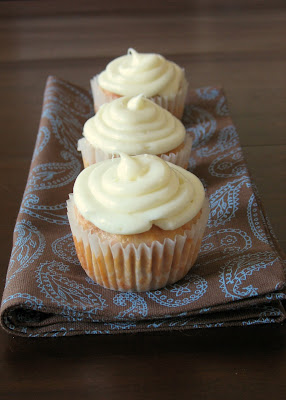 Rhubarb Banana Cupcakes with Cream Cheese Frosting
